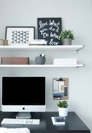 office wall desk. Small-furniture-suspended-office-wall-shelf-storage-open Office Wall Desk
