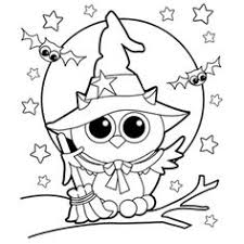 Small Picture Coloring Page Halloween Pages Cute Creepy Color By Number Costumes