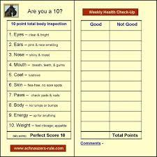 Dog Health Checkup Chart Via Schnauzers Rule Com Use Our