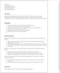 general maintenance resumes maintenance skills resume englishor com