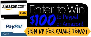 win 100 paypal cash or a 100 amazon gift card