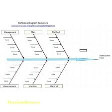 Cause And Effect Diagram Template Word Easy Diagram Tutorial Detailed Template Word Fishbone Chart