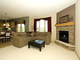 living room furniture arrangement with fireplace arranging furniture with a corner fireplace