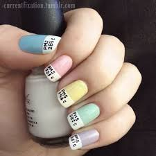 easy cute nail designs at home. lazy girl nail art simple cute designs easy - at home d