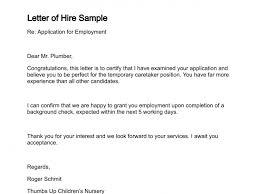 letter of intent job sample hiring letter omfar mcpgroup co