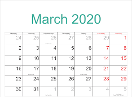 Editable Calendar March 2020 Free Printable March Holidays 2020 Calendar In Us Uk