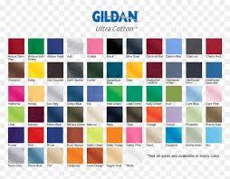 T Shirt Color Chart Gildan Shirt Color Chart 2019 Hd Png Download Gildan Logo