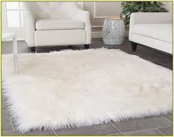 sheepskin faux fur area rug mosaic found clean for rugs plan 7