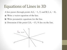 equations of lines in 3d