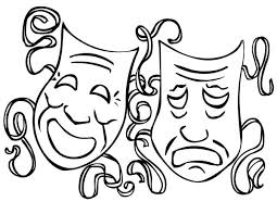 Small Picture The Twin Comedy and Tragedy Mask on Mardi Gras Coloring Page