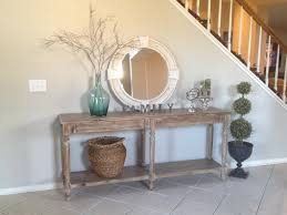 table for entryway. Endearing New Entry Way Everett Foyer Table With Basket Armiliary Spehere For Entryway
