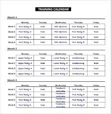 Workout Chart Template Excel Laredotennis Co