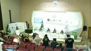 """الجندي """"عبير الراشد"""" تقدم لأول مرة مؤتمر قوات أمن #الحج لاستعراض الخطط  الأمنية والمرورية #نشرة_النهار - نيولي"""