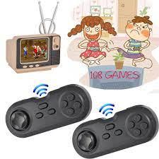 Máy chơi game điện tử mini tay cầm không dây GV108 với 108 games, kết nối  tivi, bộ điều khiển game 8 bit console ( Mới ) - Máy chơi Game khác