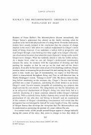 kafka s the metamorphosis gregor s da sein paralyzed by debt inside