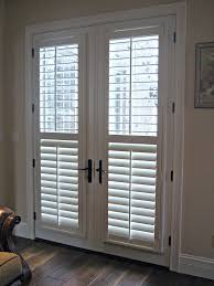 exterior french patio doors with blinds