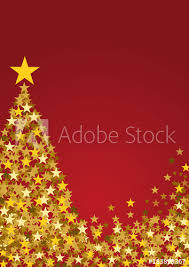 Festive Vertical Christmas Background With Copy Space Golden Stars