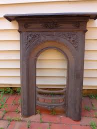 victorian cast iron fireplace surround antique vintage excellent condition