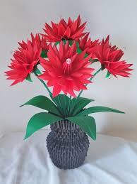Paper Flower Base Paper Flower Vase Centerpiece Wedding Decorations Home Etsy