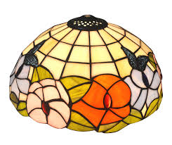Noshy Premium Tiffany Style Butterfly And Flower Stained Glass Table Replacement Lamp Shade11 78 Widthpack Of 1 Only Lampshade