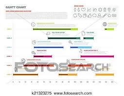 Clipart Of Gantt Project Production Timeline Graph K21323275
