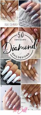 Nail Designs With Jewels 50 Classy Nail Design With Diamonds That Will Steal The Show