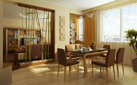Contemporary Dining Room Decorating Delightful Dining Room With Red Drum Table Lamp And Round Table