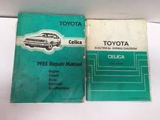 celica corners 1985 toyota celica oem factory repair manual and electrical wiring diagram book