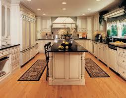 elegant kitchen ideas with wooden beige kitchen maid cabinet black marble kitchen counter tops