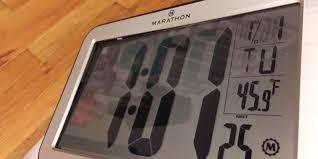review of marathon atomic self setting self adjusting clock