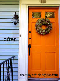 Orange front door Paint Red Front Door Before Orange Front Door After Jaime Costiglio Front Door Makeover Jaime Costiglio