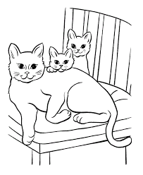 cat coloring page.  Page Big Cat Coloring Pages With Page C