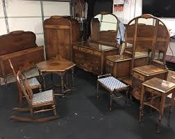 art bedroom furniture. Nine Piece Solid Walnut 1920s Art Deco Bedroom Furniture Set R