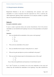 Questionnaire Questions For A Business A Questionnaire For Identify Failures In Business Analysis