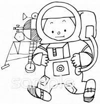宇宙飛行士イラストなら音楽小学校幼稚園向け保育園向けの
