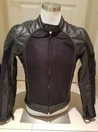 half leather motorcycle jacket