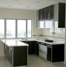 small u shaped kitchen design: modern design is applied clearly on this small u shaped kitchen