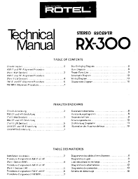 rotel rx 300 sm service manual schematics eeprom rotel rx 300 sm service manual 1st page