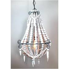 white beaded chandelier wood bead wondrous large grey stained with wooden chandeli