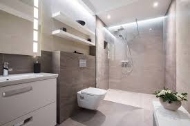 contemporary h curbless shower