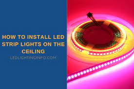how to install led strip lights on the