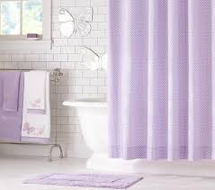 Perfect Lavender Shower Curtains Dot Curtain Pottery Barn Kids And Inspiration Decorating