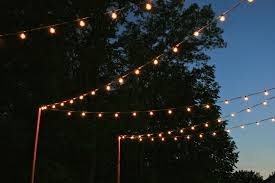 How To String Cafe Lights Pin On Back Yard Makeover