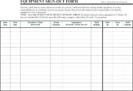 Equipment Checkout Form Template Excel Equipment Sign Out Form Sheet Excel Key Template Agreement