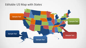 editable us map powerpoint editable us map template for powerpoint with states slidemodel