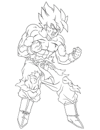 Beautiful Dragon Ball Z Coloring Pages Goku Super Saiyan Ausmalbilder