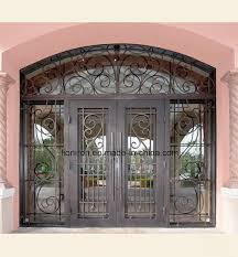 china hand forged iron security doors glass door with transom china wrought iron door entrance doors