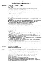 Banking Resume Samples Universal Banker Resume Samples Velvet Jobs