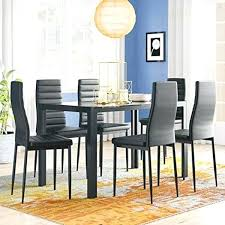 glass top dining table for 6 7 piece kitchen room glass top dining table set w
