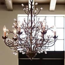 image of stylish vintage crystal chandelier